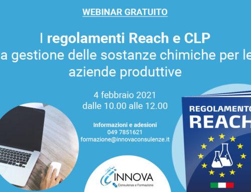 Webinar REACH CLP – 4 Febbraio